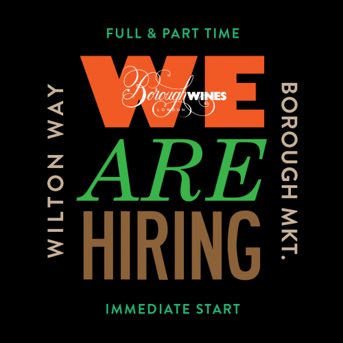 we are hiring wine shop